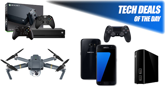 Tech Deals: 70% Off Galaxy S7, $100 Off Xbox One X With 2 Controllers, $115 6TB USB HDD, More