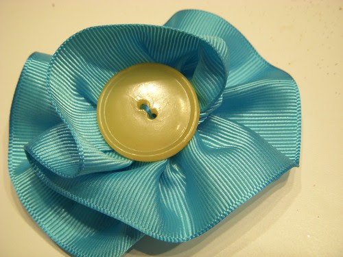 Ribbon Flower Hair Clip