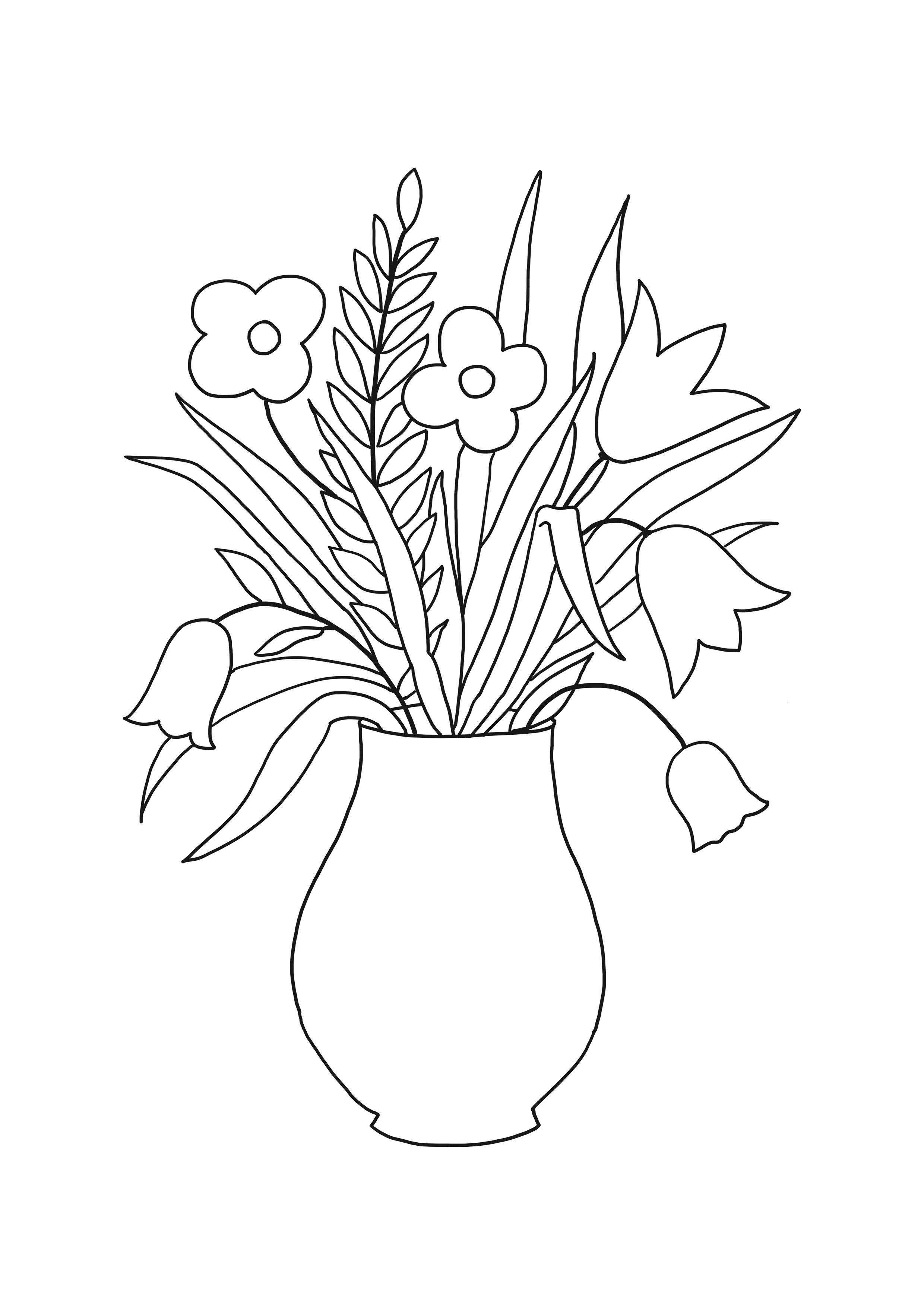 Vazoda çiçek Resmi çizimleri Gauranialmightywindinfo