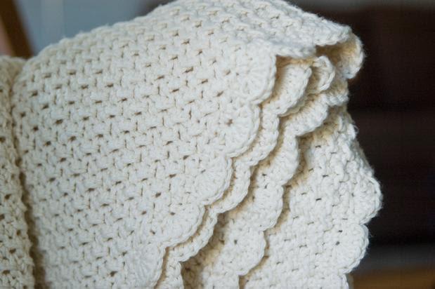 Crunchy Granola Baby Blanket Crochet Pattern