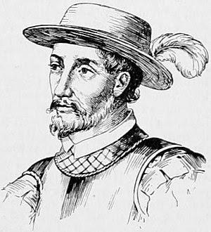 Portrait drawing of Spanish explorer Juan Ponc...