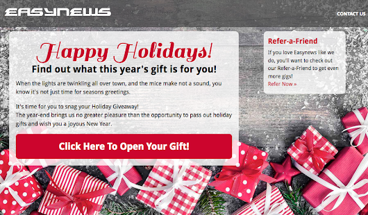 Redeem Your Holiday Gigs from Easynews | Easynews Blog
