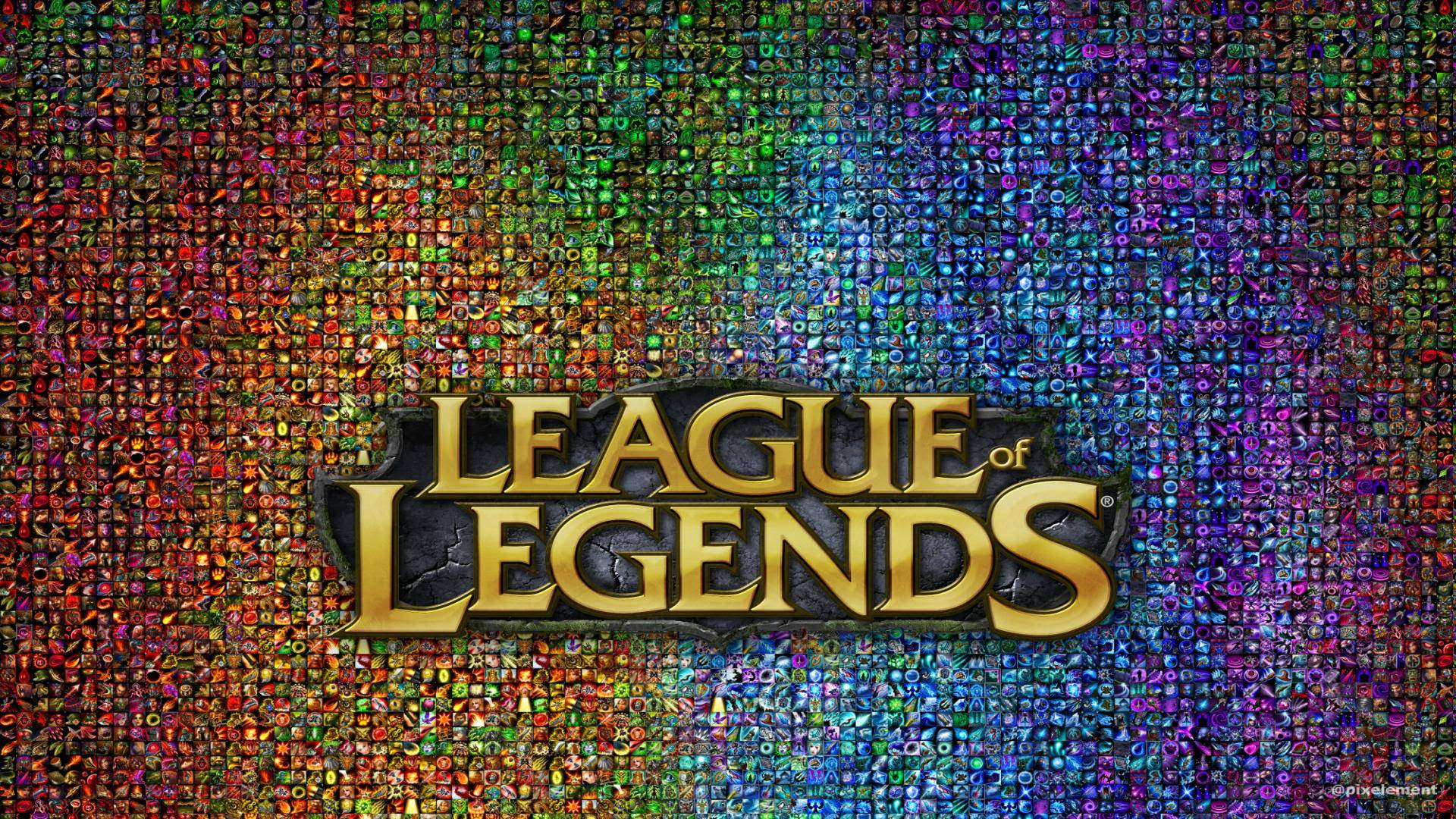 The Many Colors Of Lol Mosaic Wallpaper Made From All Of The