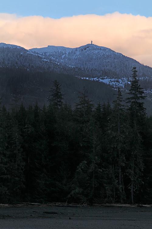 cloud over Kasaan Mountain at sunset, Kasaan, Alaska