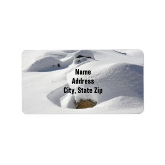 Snow Drifts Over Rocks Personalized Address Label