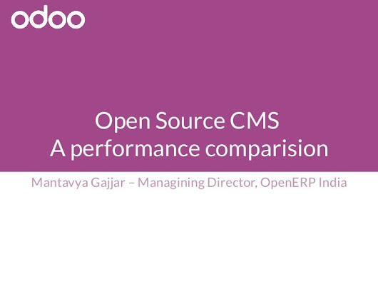 Odoo - Open Source CMS: A performance comparision