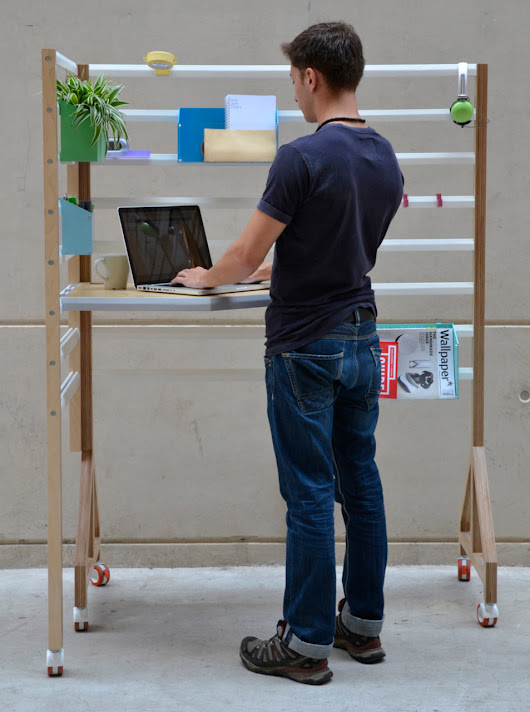An Adjustable Workspace for the Home or Office - Design Milk