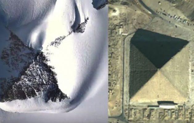 To Google Earth αποκάλυψε πυραμίδες στην Ανταρκτική – Ή τουλάχιστον έτσι μοιάζουν (βίντεο)