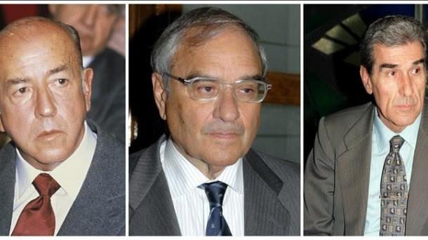 Los exministros imputados José Utrera, Rodolfo Martín Villa y Fernando Suárez. Foto: EFE
