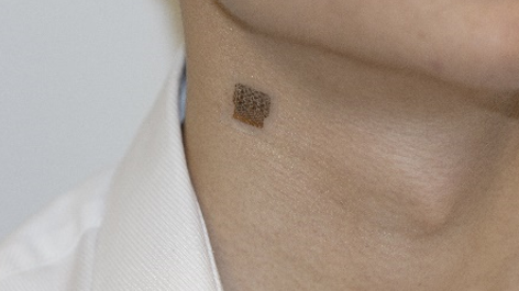 A stretchy stick-on patch can take blood pressure readings from deep inside your body - MIT Technology Review