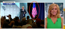 After Finishing A Speech, Trump Approached The American Flag. What He Did Next Is America First