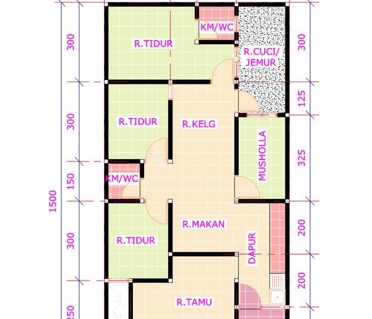 Denah Rumah Type 36 Ukuran 7x10 - Neueste b