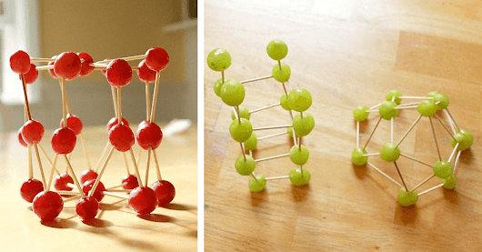 Edible Art – Grape and Toothpick Sculptures are Healthy and Fun!