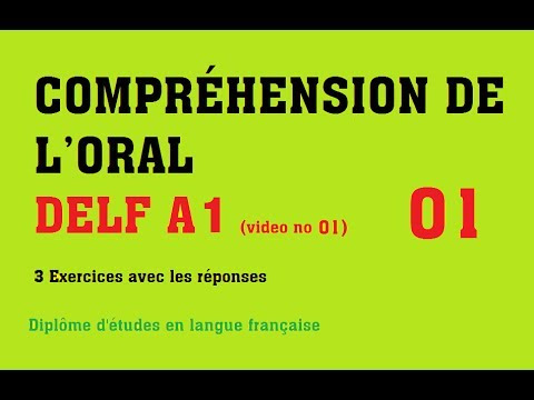 DELF A1 - Compréhension de l'oral / Listening comprehension