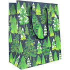 Waste Not Paper - Snowy Trees Holiday Medium Gift Bags - 3 Bags