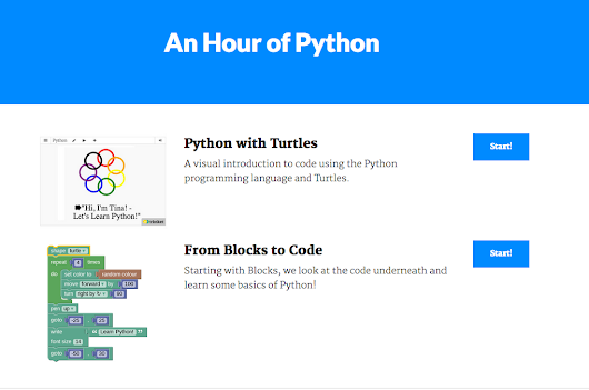 Hour of Python from Trinket