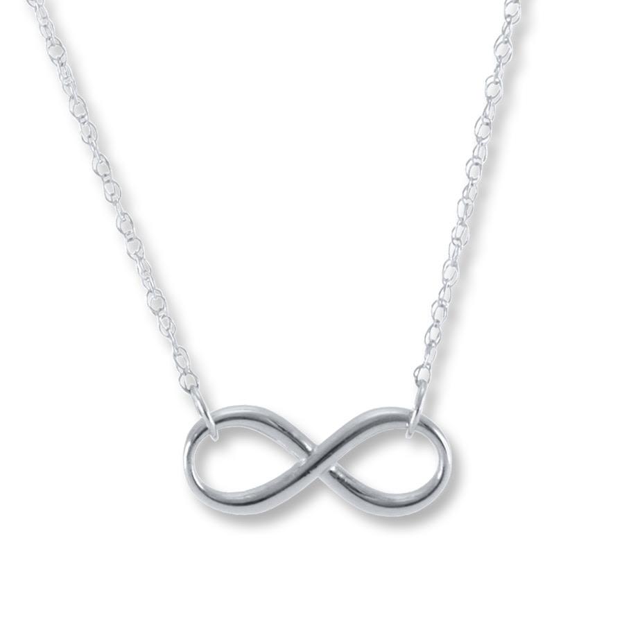 Jared Infinity Necklace: White Gold Bracelets: Kay Jewelers Infinity Necklace