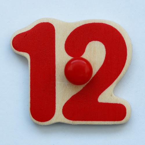 Clock number 12