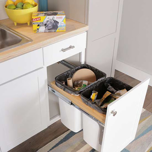 Create a DIY Pull-Out Trash Cabinet