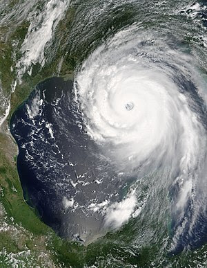 Hurricane Katrina in the Gulf of Mexico near i...