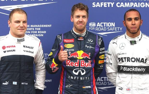 Valtteri, Vettel e Hamilton, Formula 1 Canada (Foto: Agência AP)