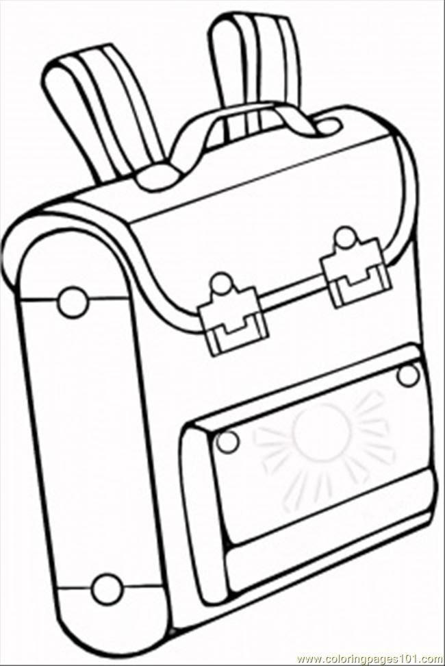 960 Coloring Pages School Bag Pictures