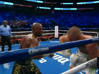 Rd2 Conor Counters Floyd With A Beautiful Uppercut Floyd Stumbles