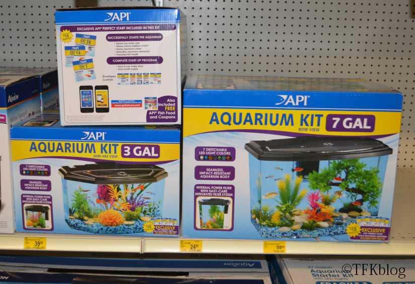 API Aquarium kits on PetSmart store shelves