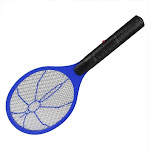 Electric Battery Power Fly Mosquito Swatter Bug Zapper Racket - Blue