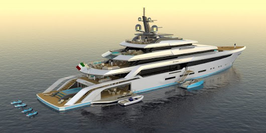 The magnificent design of 82m motor yacht concept Beyond by Christopher Seymour