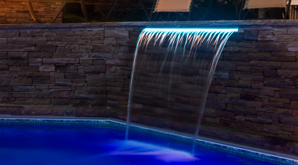 brilliant led waterfall blue