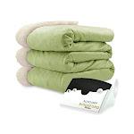 Biddeford 6004-9051136-635 Electric Heated Micro Mink/Sherpa Blanket, King, Sage