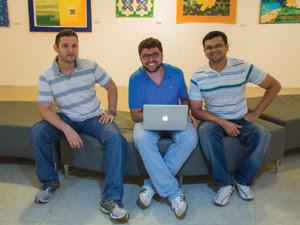 Equipe Glocal Arts é formado por Vinnie de Oliveira, Luciano Nobre e Rimenes Ribeiro (Foto: Arquivo Pessoal/Vinnie de Oliveira)