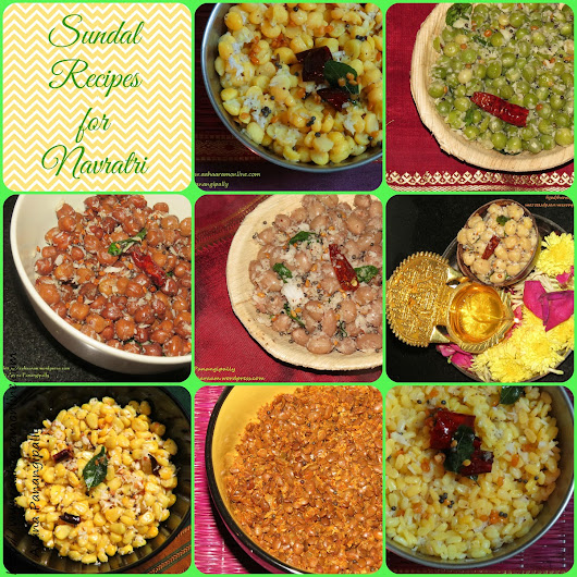 Sundal Recipes for Navratri - ãhãram