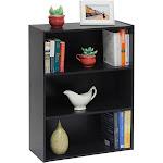 Furinno Pasir Open 3-Tier Modular Bookcase, Espresso