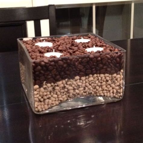 Easy centerpiece project!!!! Layer black eyed peas on