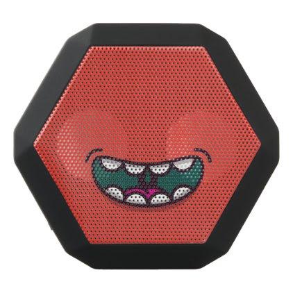 Funny Big Mouth Monster. Black Bluetooth Speaker