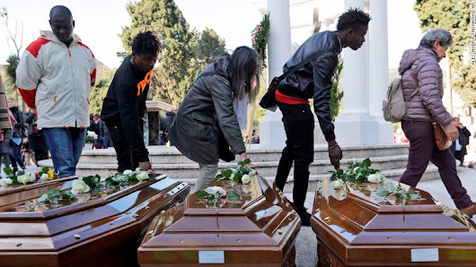 SAD: 26 young Nigerian migrant women laid to rest in Italy