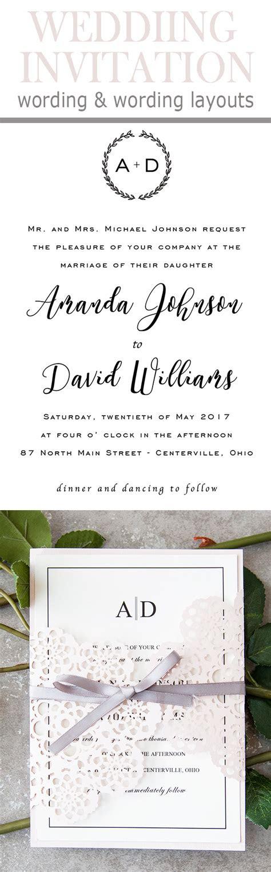 Wedding Invitation Wording Templates