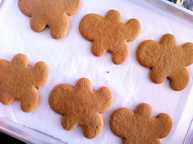Gingerbread Men, Cooling on Baking Sheets
