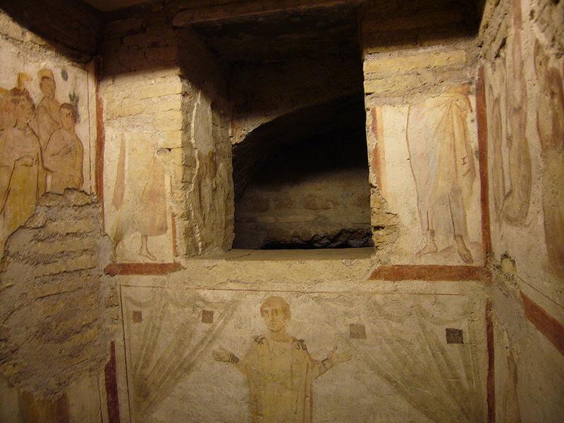 Fil: Celio - Casa Romana al Celio - Fenestella confessionis 1120296.JPG