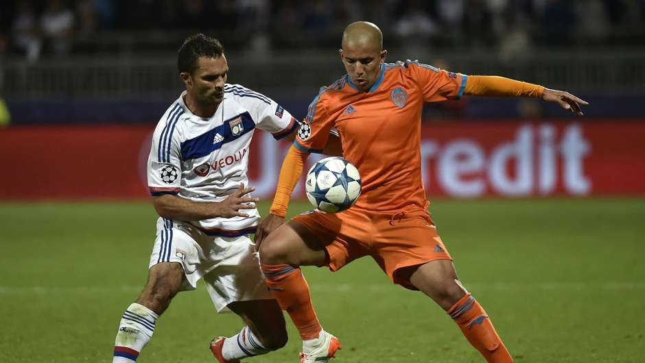 Jeremy Morel Sofiane Feghouli Lyon Valencia Champions League 29092015