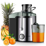 Homeleader Juicer Juice Extractor, Stainless Steel Centrifugal Juicer with 3'' Wide Mouth, for Fruits and Vegetables, BPA-FREE