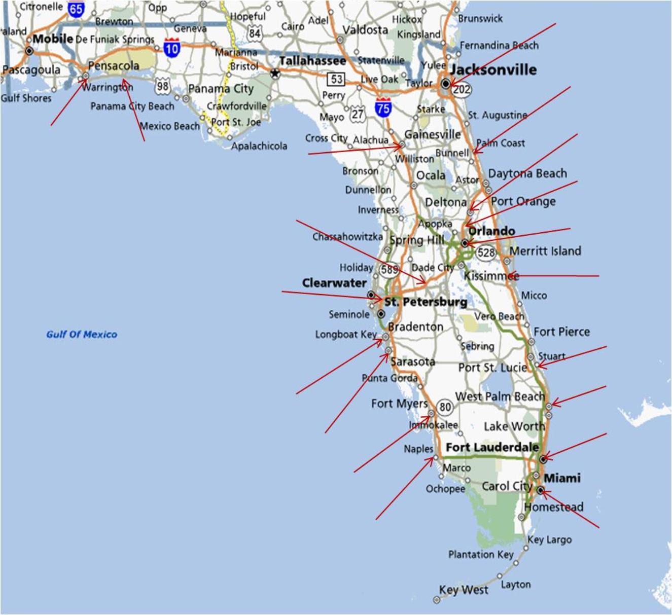 25 Elegant Map Of Florida East Coast Towns