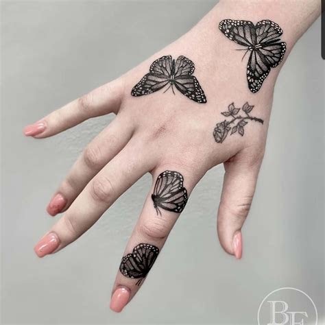 east tattoo instagram butterflies hand piece