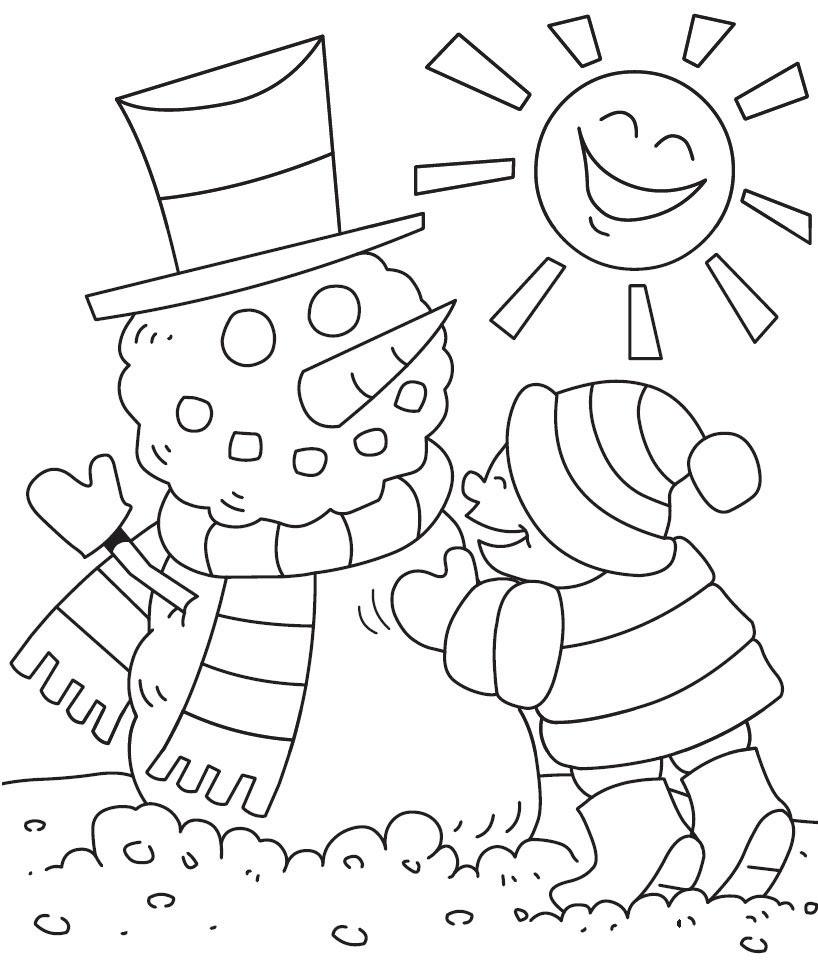 hiver dessins  colorier print hiver images  dessiner at