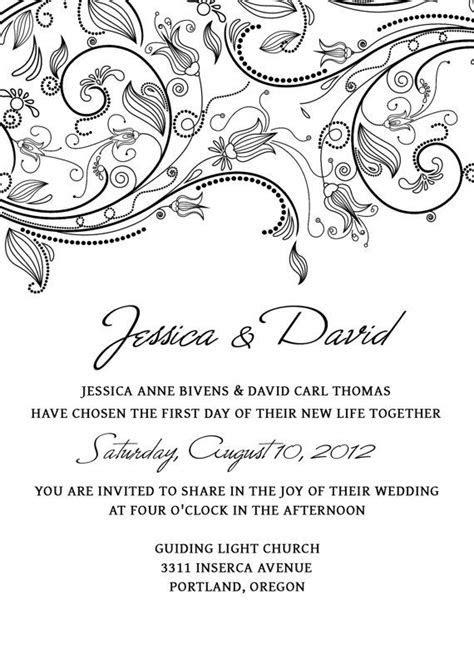 Wedding Invitation Template SET Photoshop   Flowers