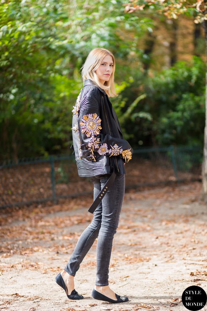 Lena Perminova Street Style Street Fashion Streetsnaps by STYLEDUMONDE Street Style Fashion Blog