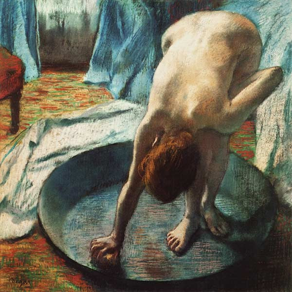 Edgar Degas - Mujer en bañera