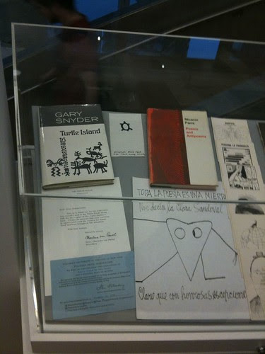 New Directions books on display, including Gary Snyder's Pulitzer Prize nomination